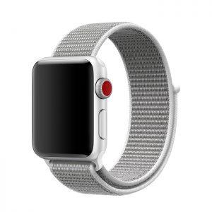 Remienok pre Apple Watch, Nylon, 42mm / 44mm, Sivý